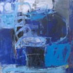BLUES FOR JL; 24 x 24; Oil/cold wax on panel; 2020